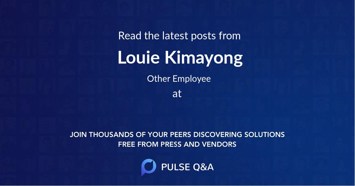 Louie Kimayong