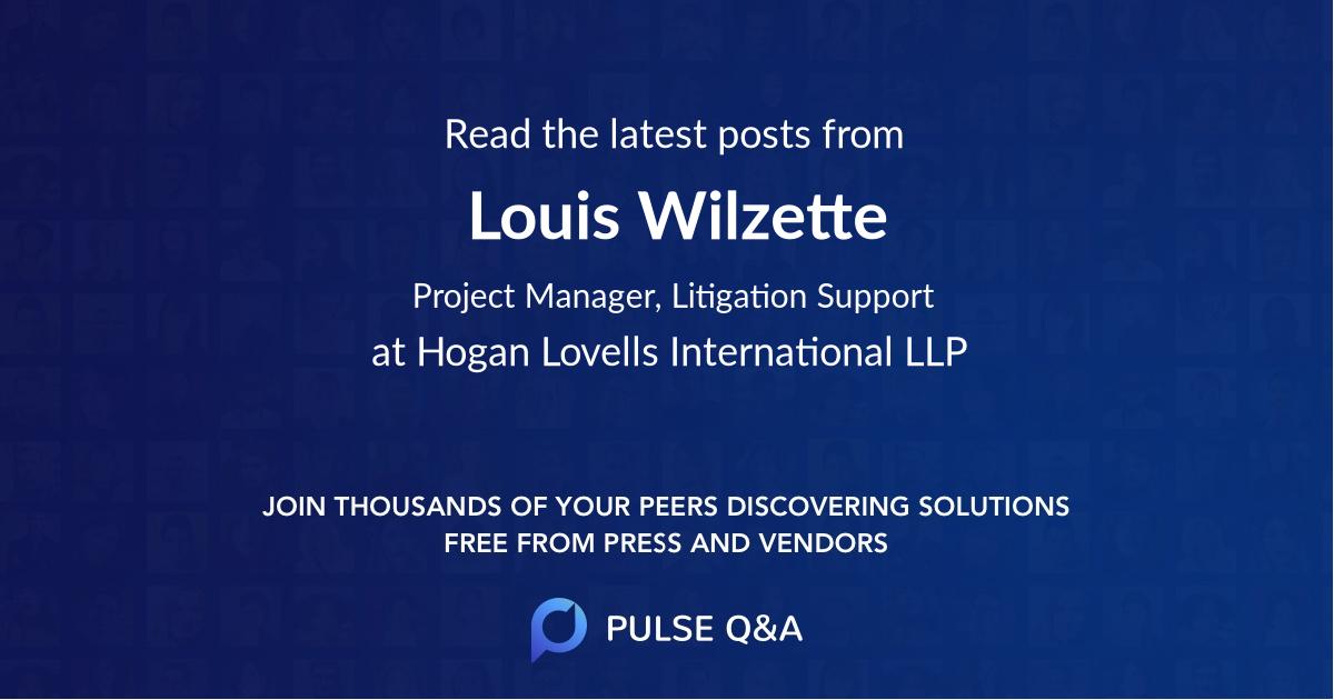 Louis Wilzette