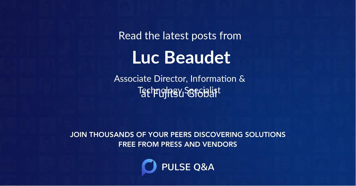 Luc Beaudet