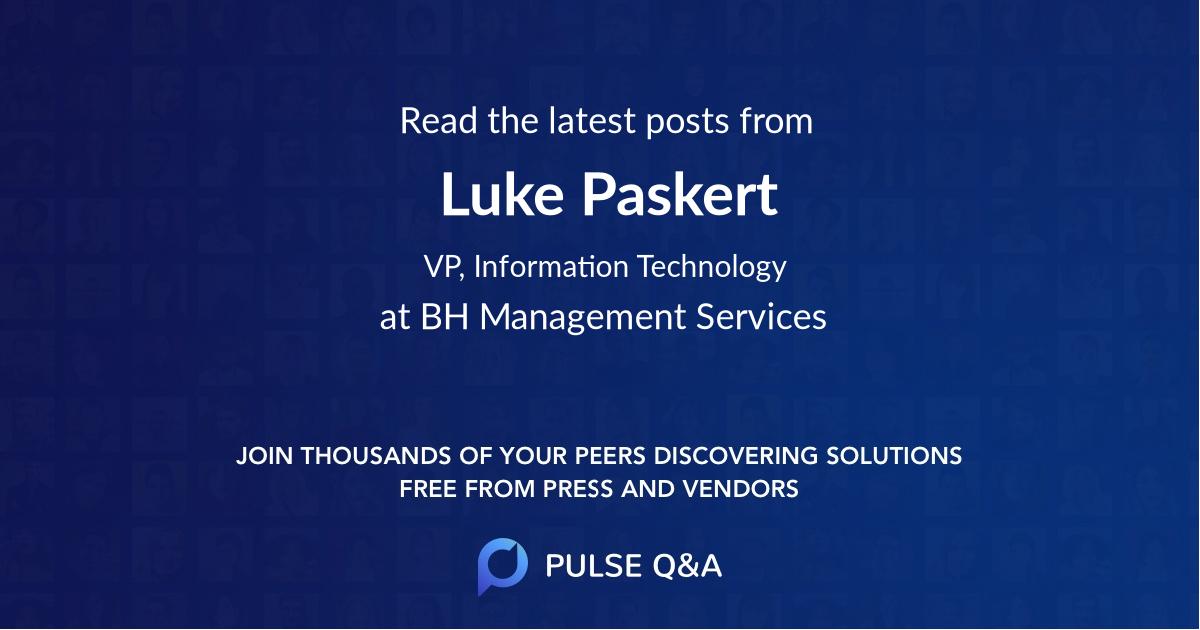 Luke Paskert