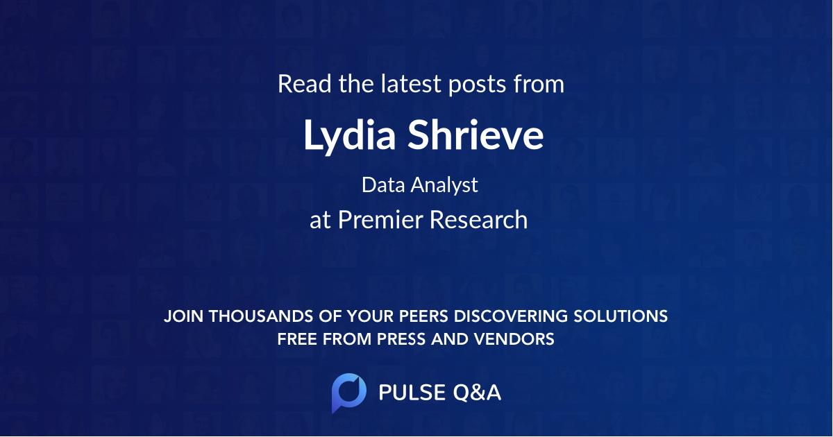Lydia Shrieve