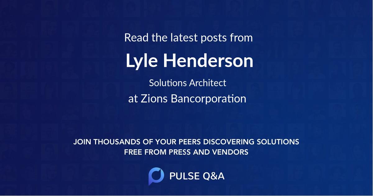 Lyle Henderson