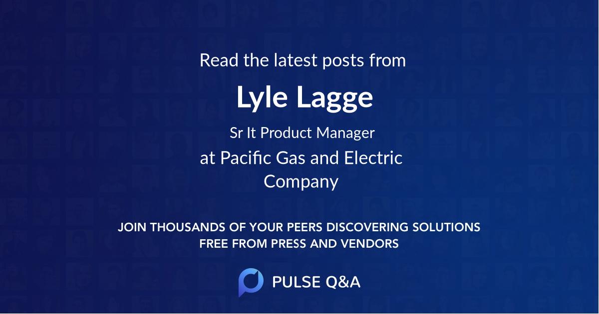 Lyle Lagge