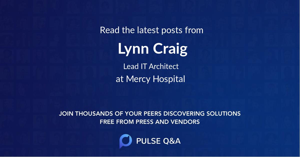 Lynn Craig