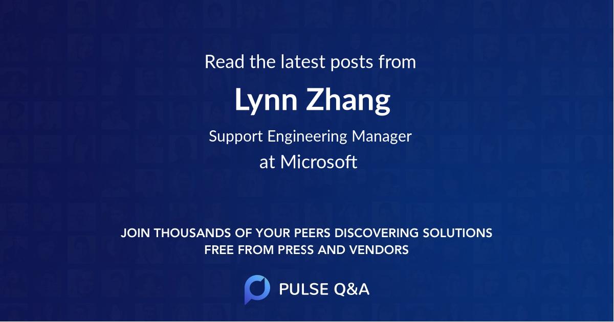 Lynn Zhang