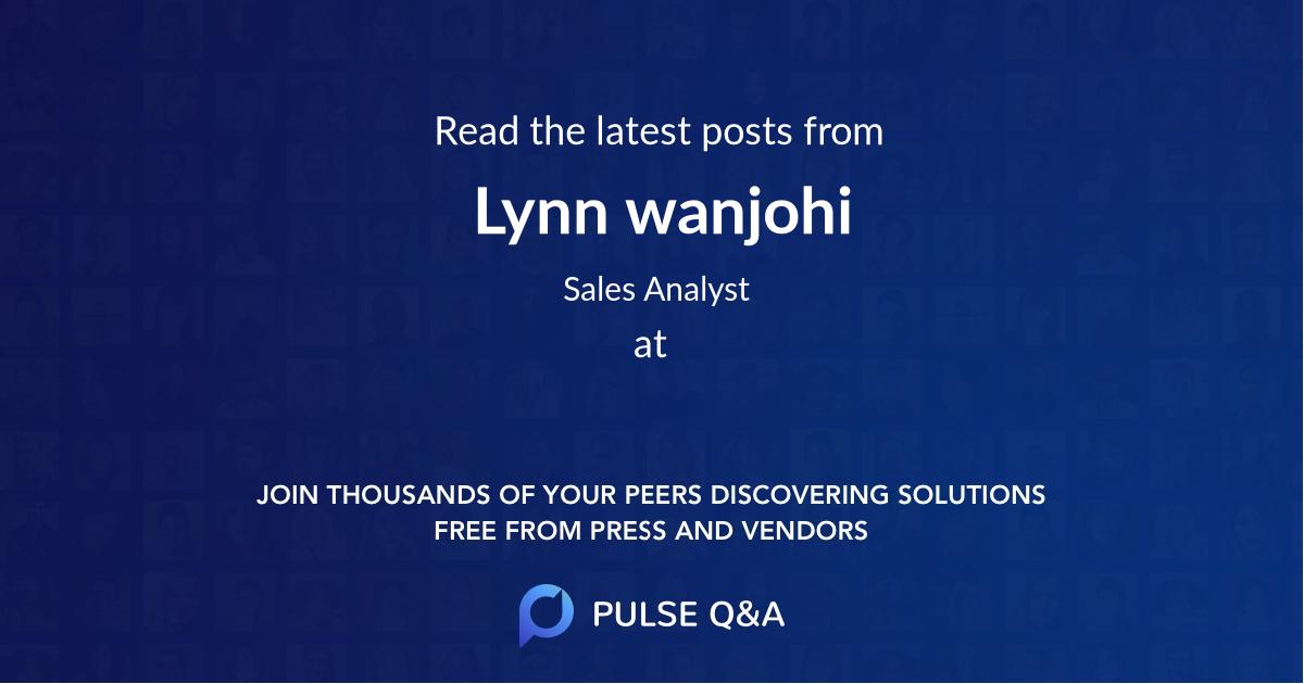 Lynn wanjohi