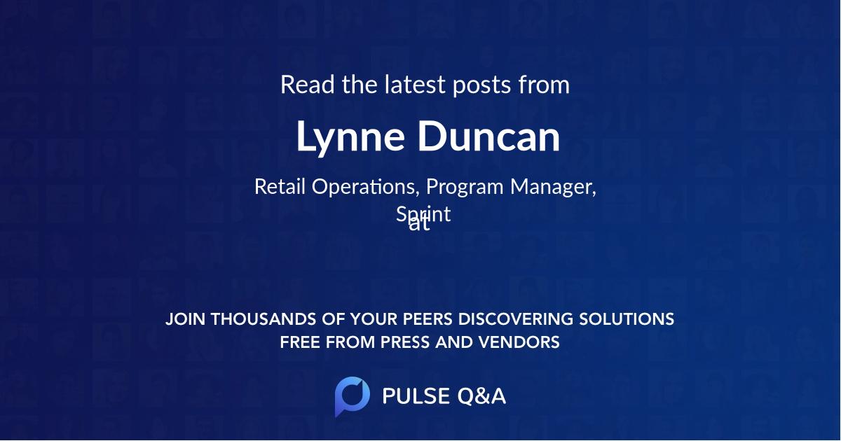 Lynne Duncan