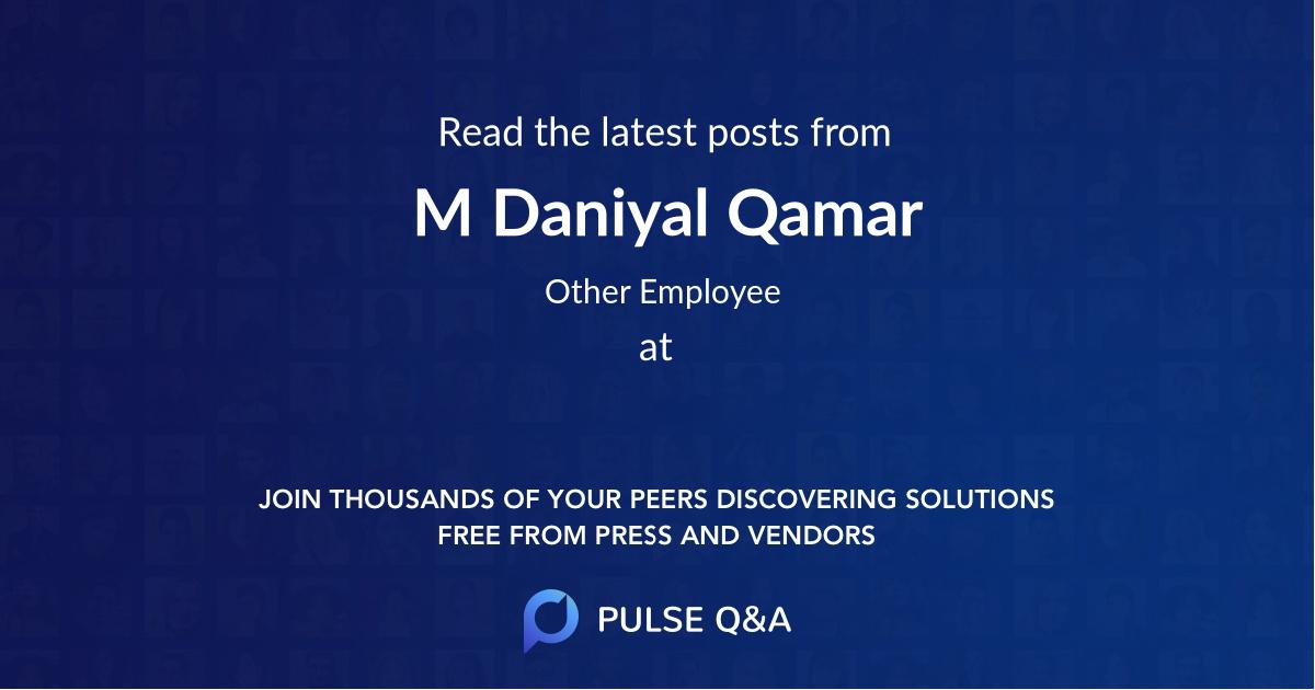 M Daniyal Qamar