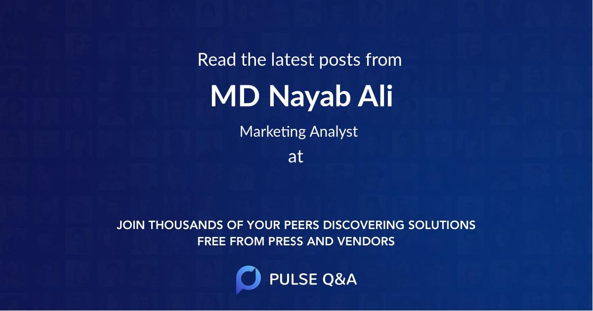 MD Nayab Ali