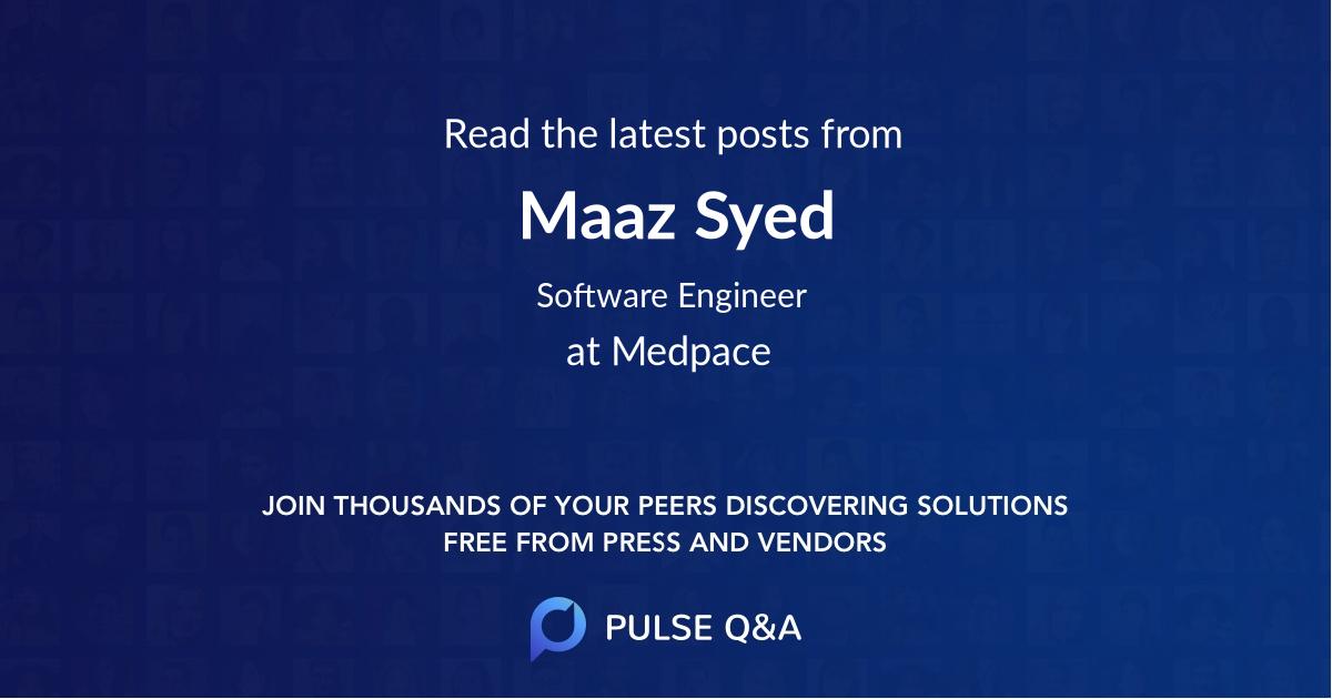 Maaz Syed