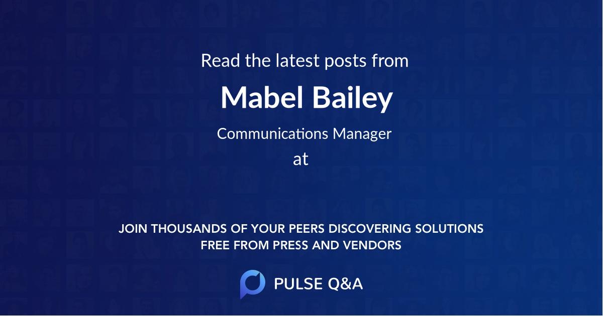 Mabel Bailey