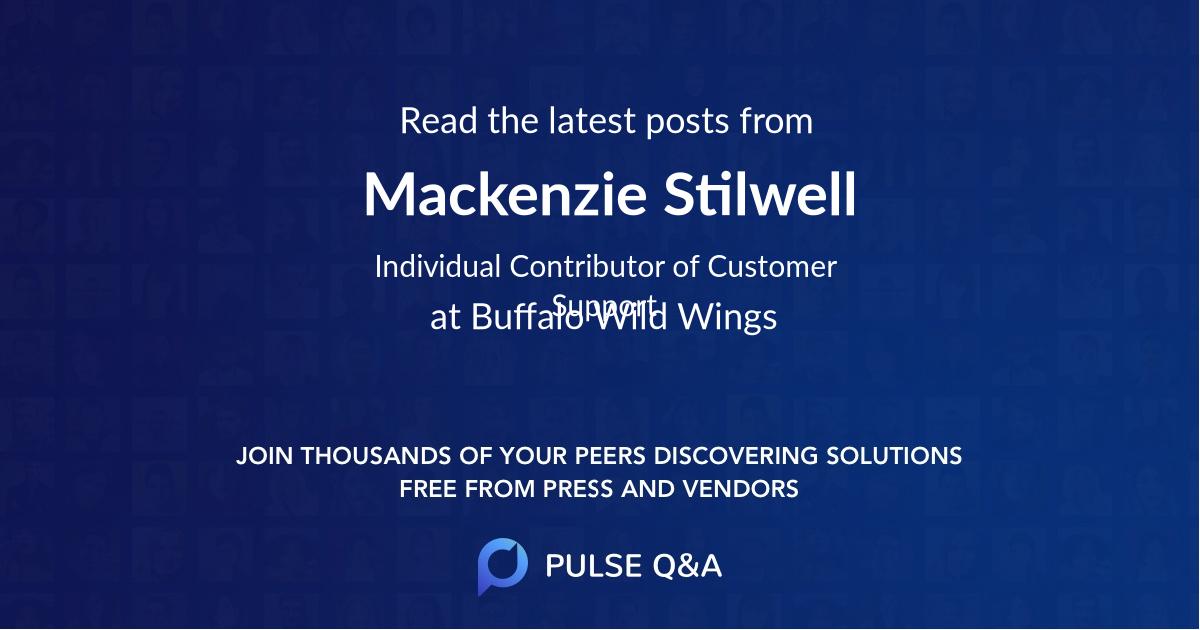 Mackenzie Stilwell