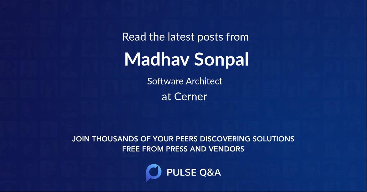 Madhav Sonpal