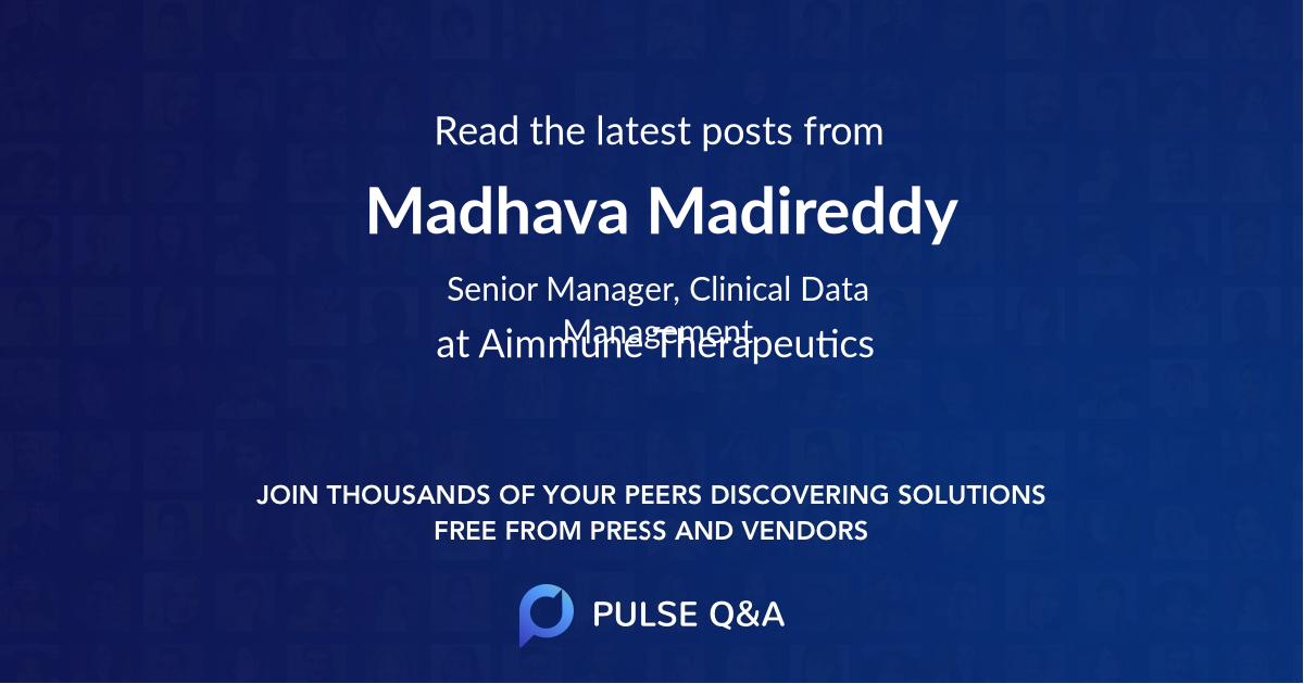 Madhava Madireddy