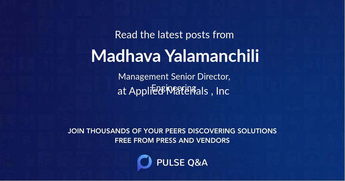 Madhava Yalamanchili