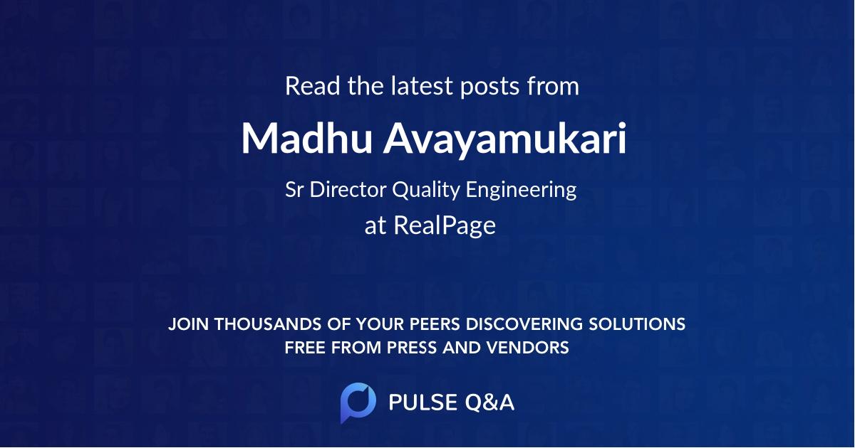 Madhu Avayamukari