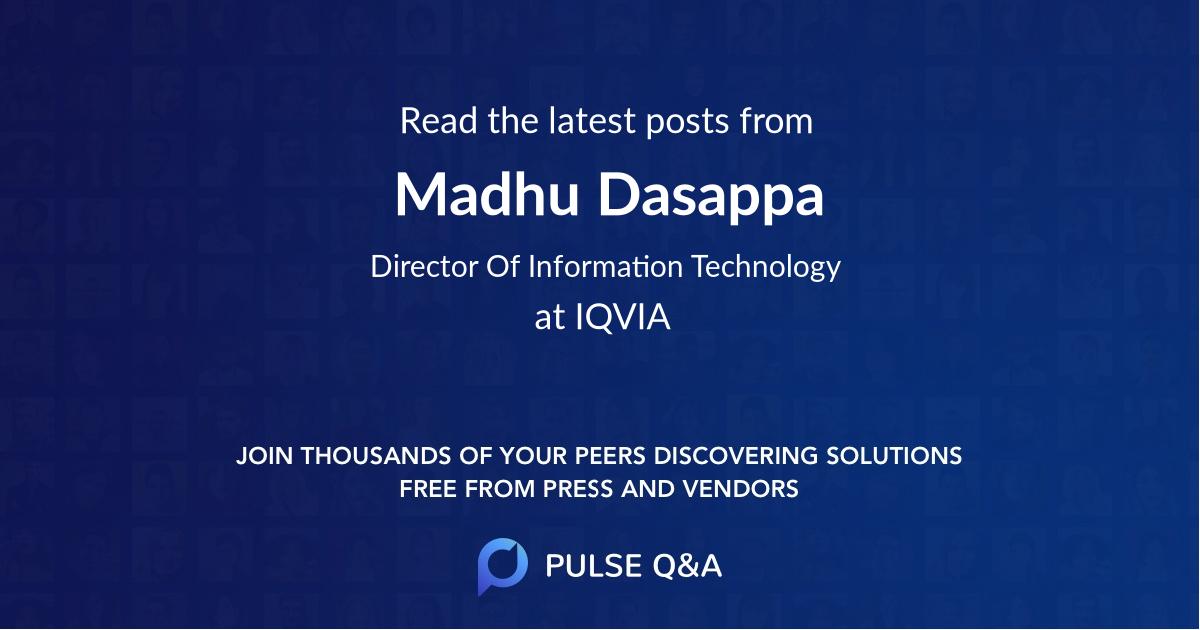 Madhu Dasappa