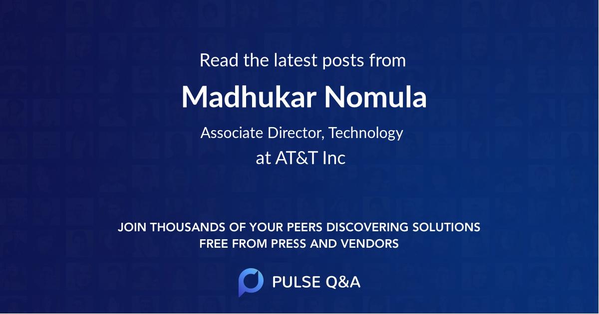 Madhukar Nomula