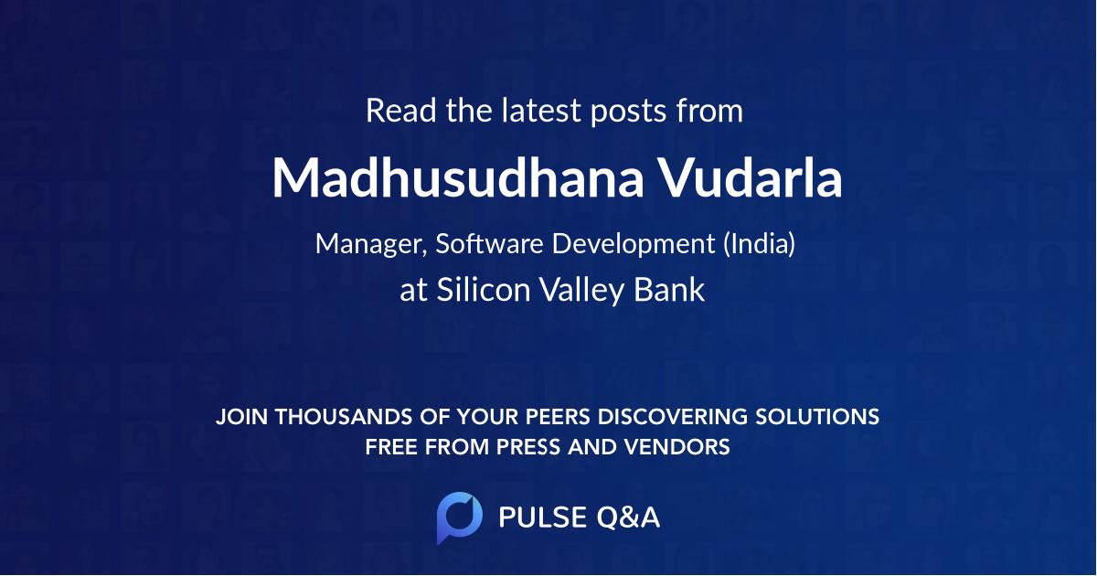 Madhusudhana Vudarla