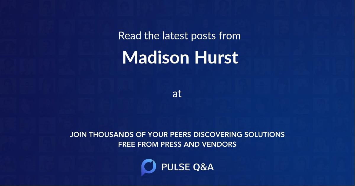 Madison Hurst