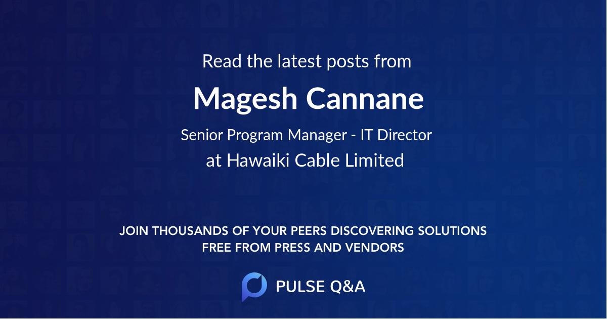 Magesh Cannane