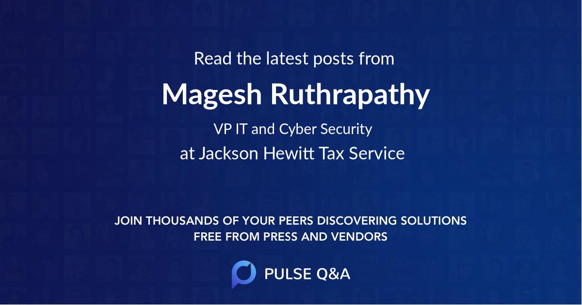 Magesh Ruthrapathy