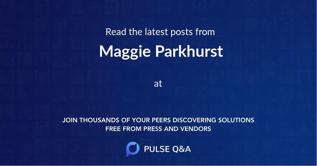 Maggie Parkhurst