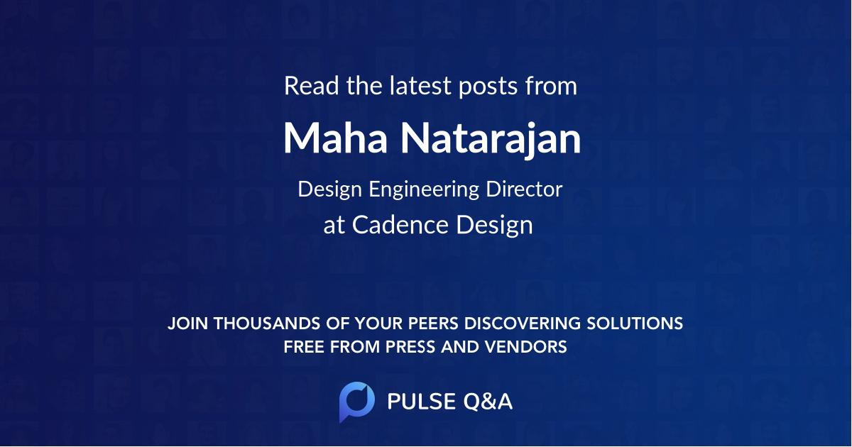 Maha Natarajan