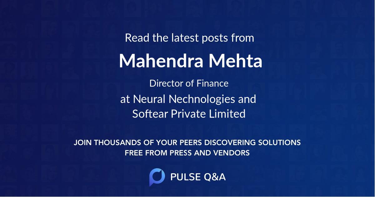 Mahendra Mehta