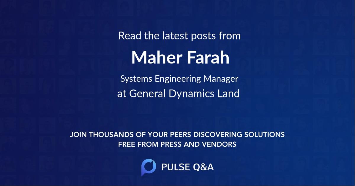 Maher Farah