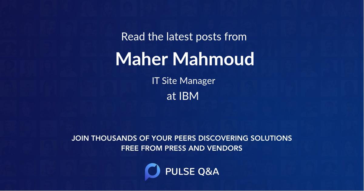 Maher Mahmoud