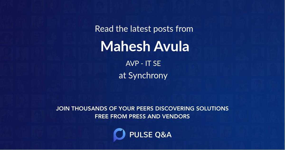 Mahesh Avula