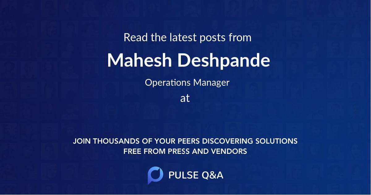 Mahesh Deshpande