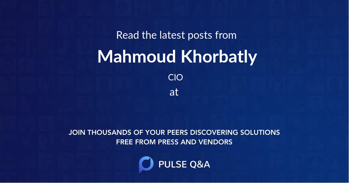 Mahmoud Khorbatly