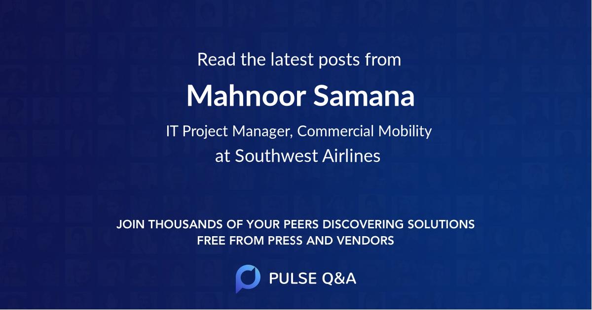 Mahnoor Samana