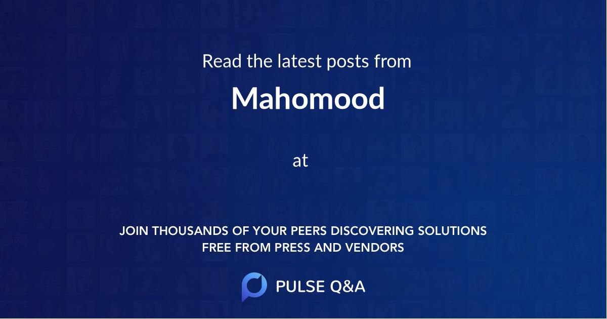 Mahomood