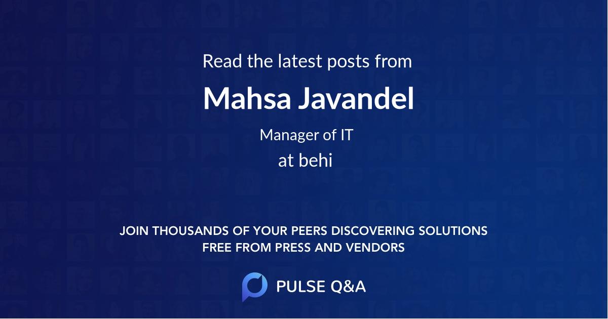 Mahsa Javandel