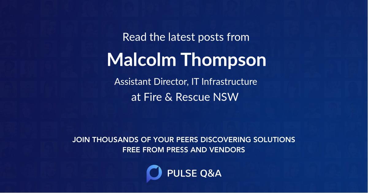 Malcolm Thompson
