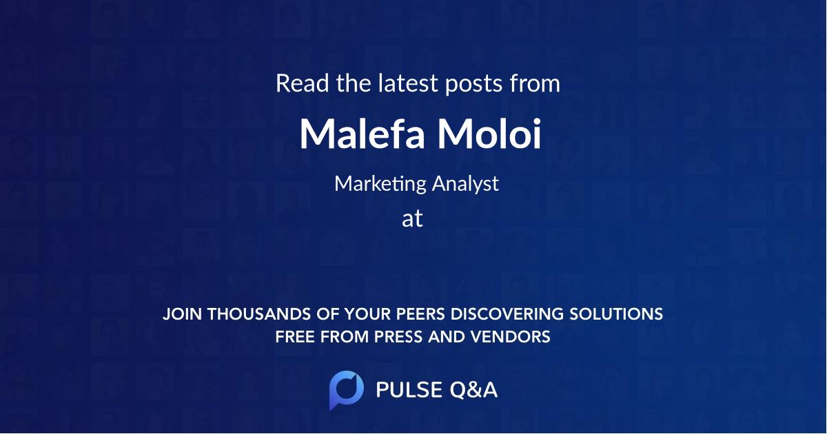 Malefa Moloi