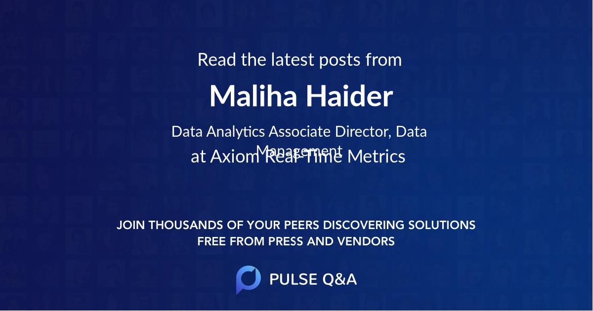 Maliha Haider