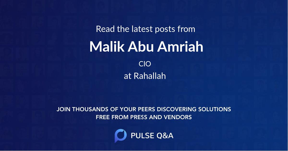 Malik Abu Amriah