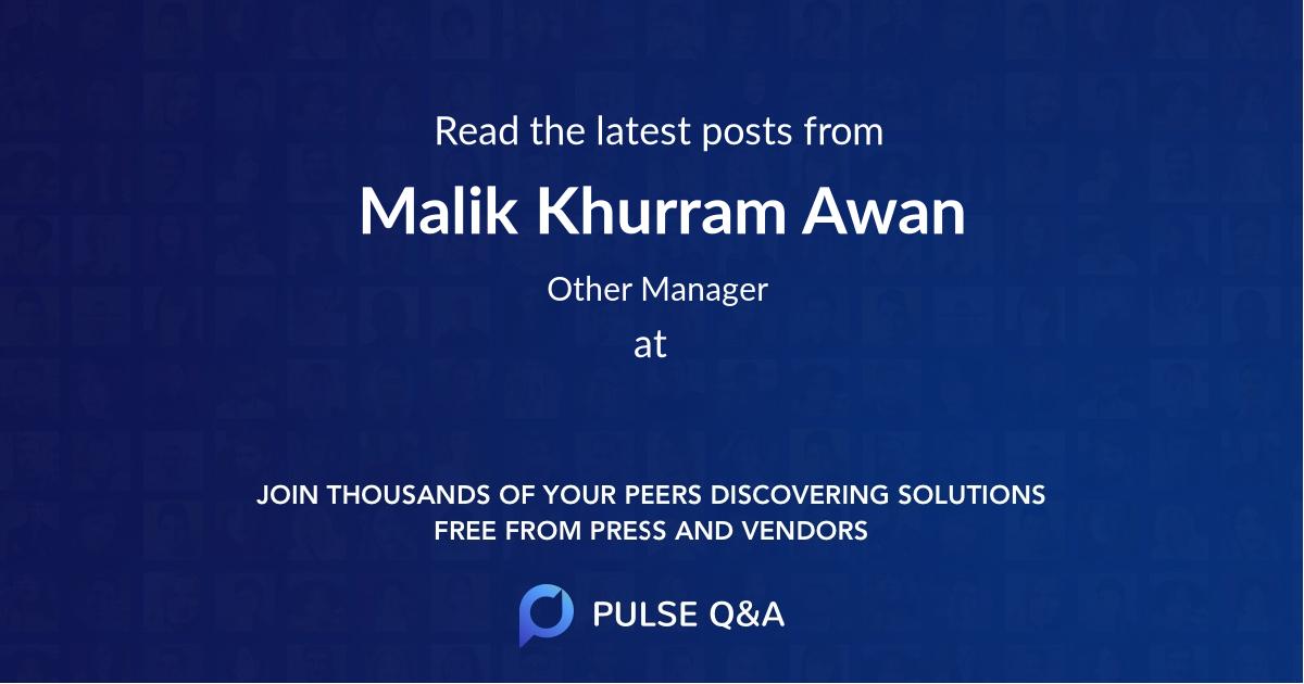 Malik Khurram Awan