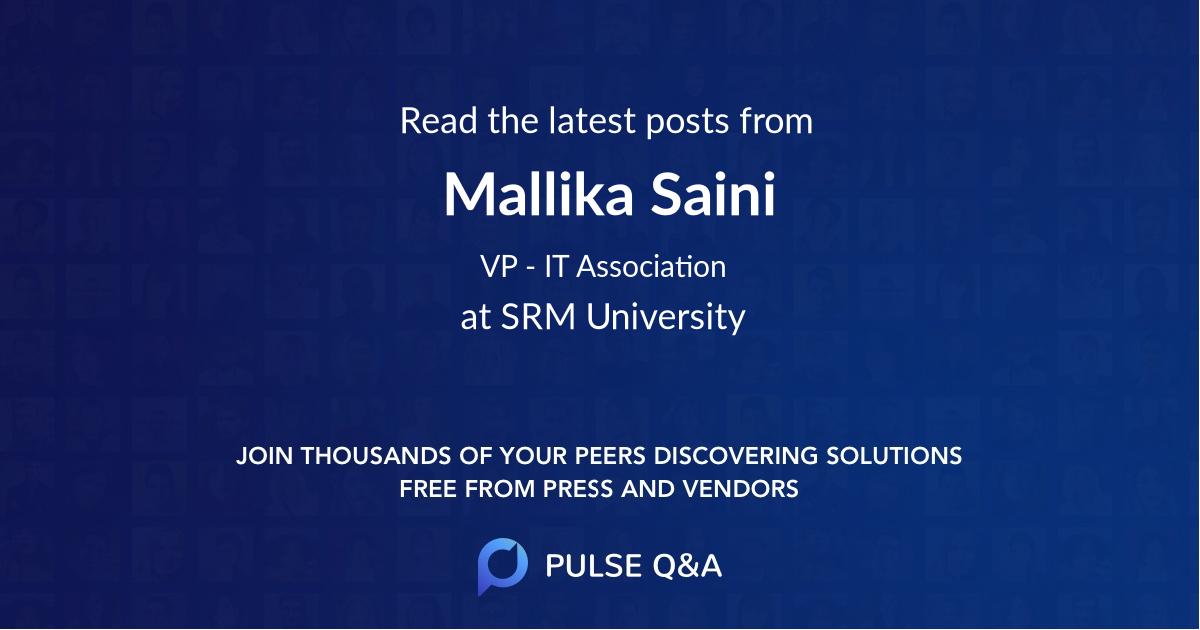 Mallika Saini