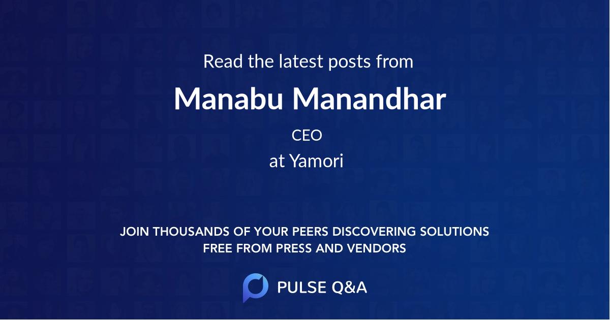 Manabu Manandhar