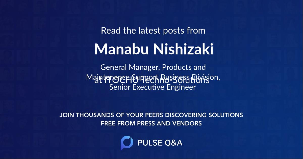 Manabu Nishizaki