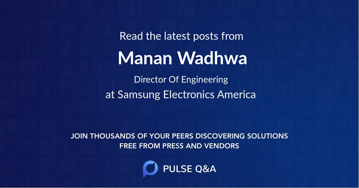 Manan Wadhwa