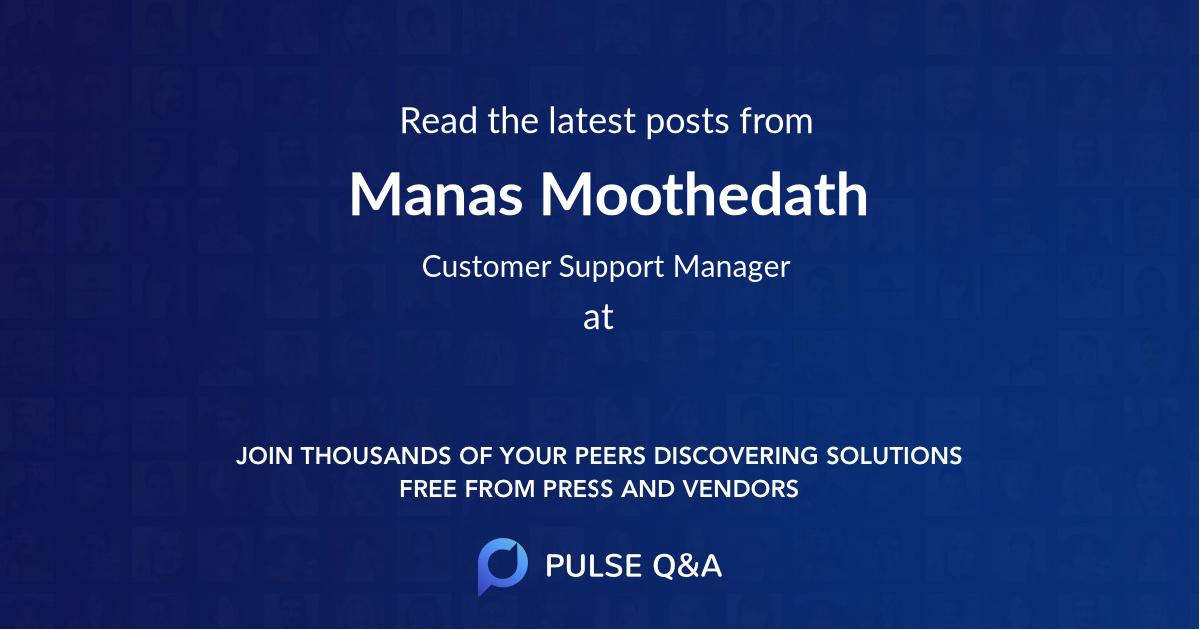 Manas Moothedath