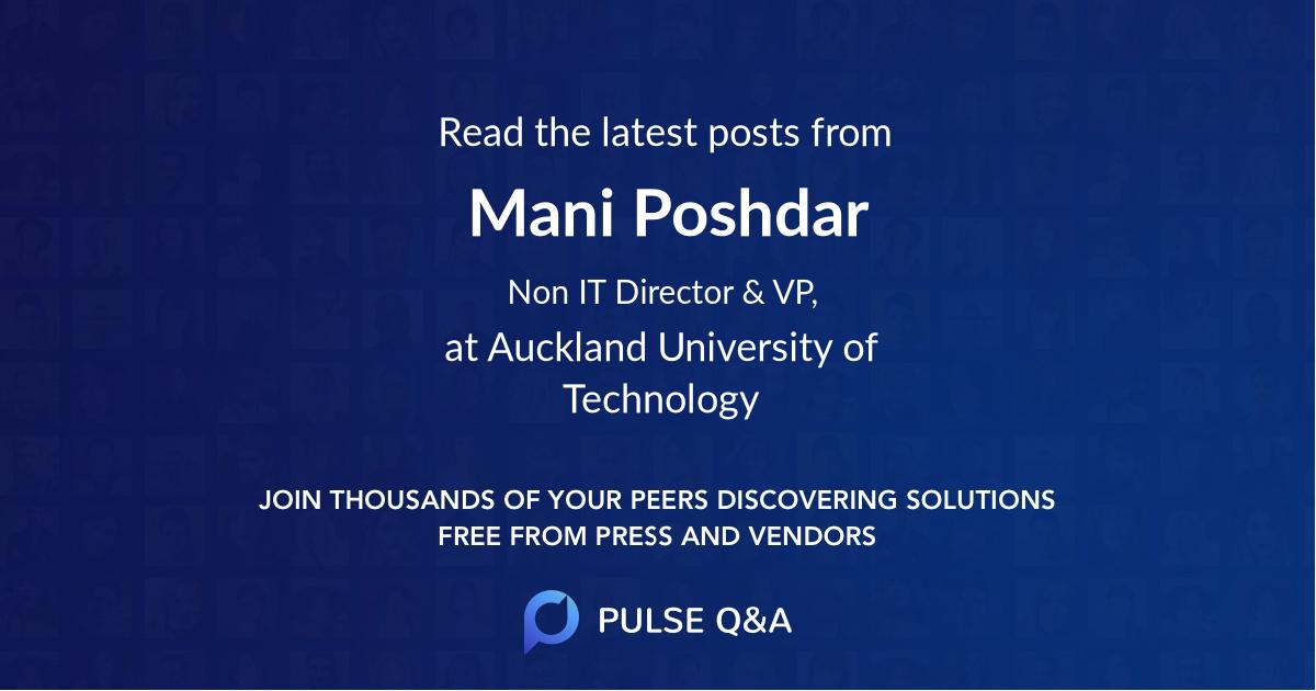 Mani Poshdar