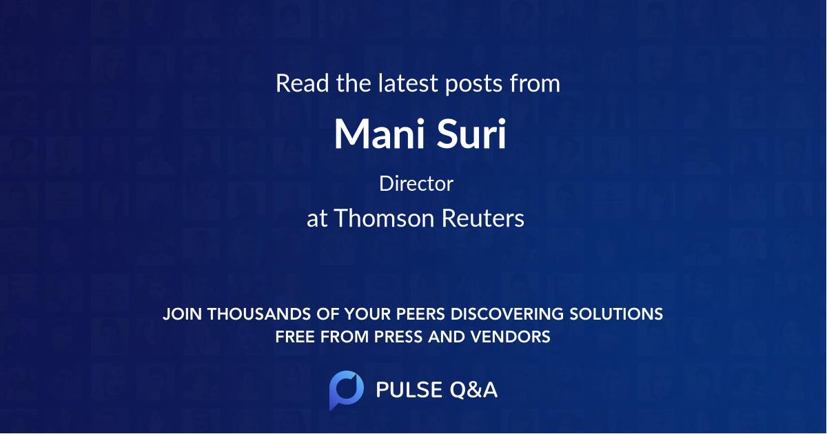 Mani Suri