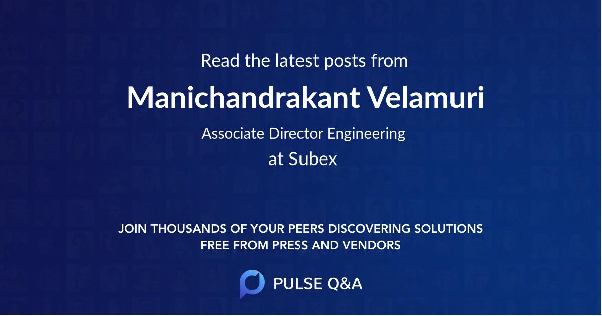 Manichandrakant Velamuri